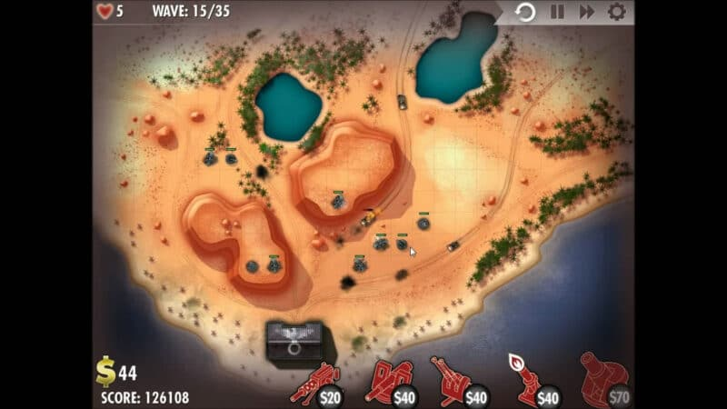 """iBomber Defense"" - Axis Campaign - 09. North West Africa - On the Beach (2)"