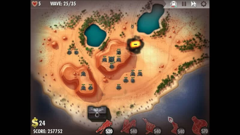 """iBomber Defense"" - Axis Campaign - 09. North West Africa - On the Beach (3)"