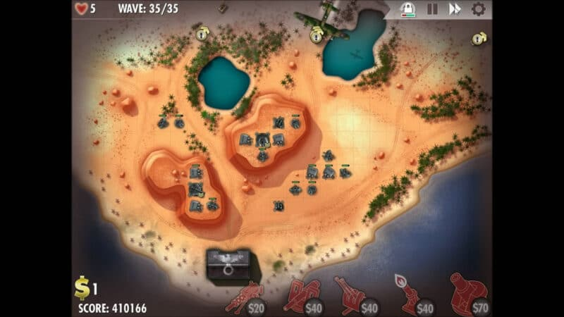 """iBomber Defense"" - Axis Campaign - 09. North West Africa - On the Beach (4)"