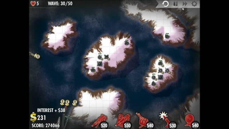 """""""iBomber Defense"""" - ระดับ 12 - ยุโรปเหนือ: Firestorm (4)"""