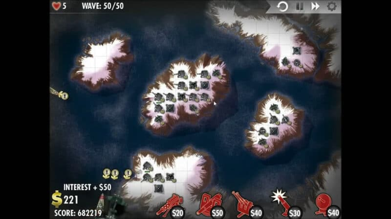 """""""iBomber Defense"""" - ระดับ 12 - ยุโรปเหนือ: Firestorm (6)"""