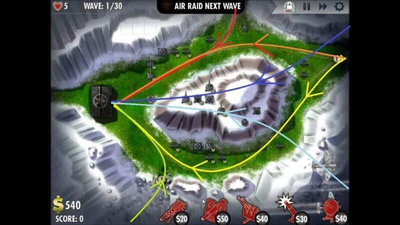 """iBomber Defense"" - Level 13 - South East Europe: Counterattack (1)"