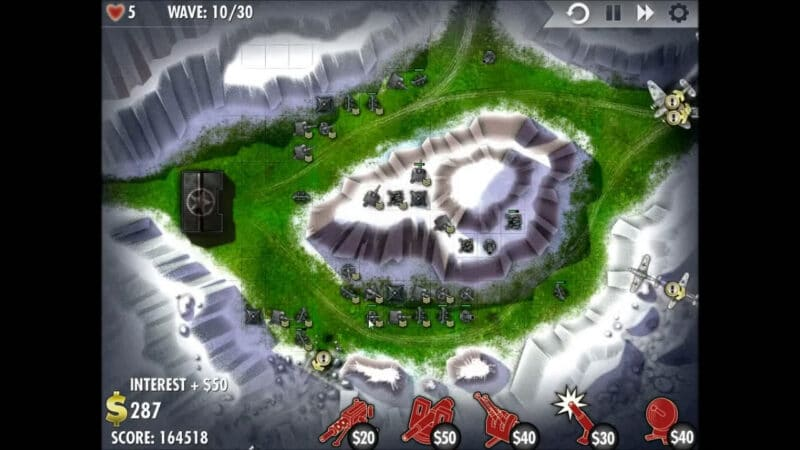 """iBomber Defense"" - Level 13 - South East Europe: Counterattack (2)"
