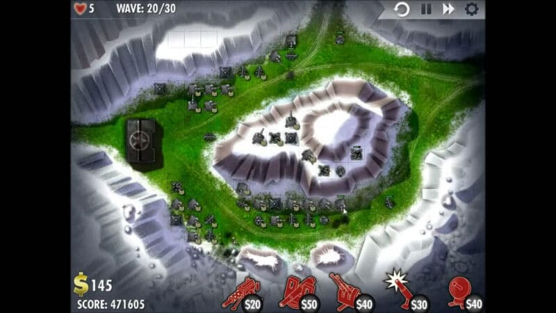 """iBomber Defense"" - Level 13 - South East Europe: Counterattack (3)"