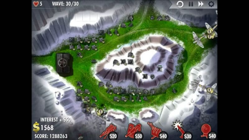 """iBomber Defense"" - Level 13 - South East Europe: Counterattack (4)"