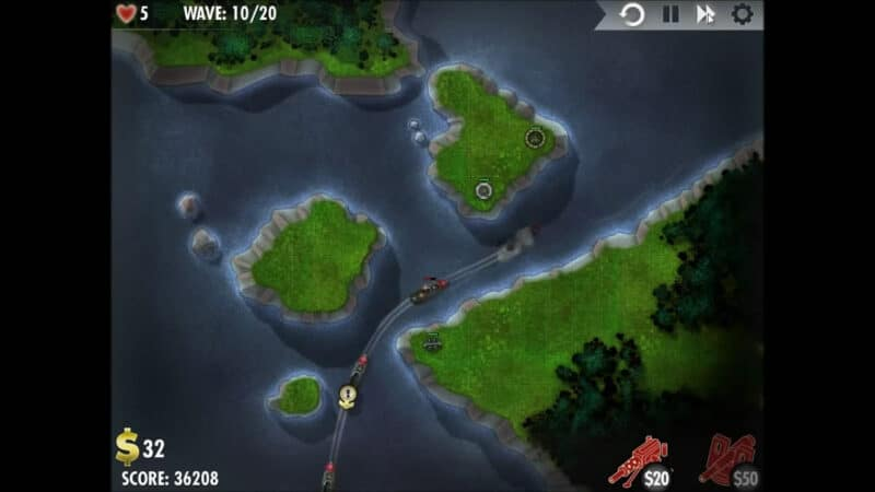 """iBomber Defense"" - Level 2 - Westliches Mittelmeer: Sea Devils! (2)"