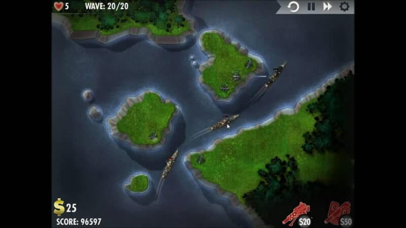 """iBomber Defense"" - Level 2 - Westliches Mittelmeer: Sea Devils! (3)"