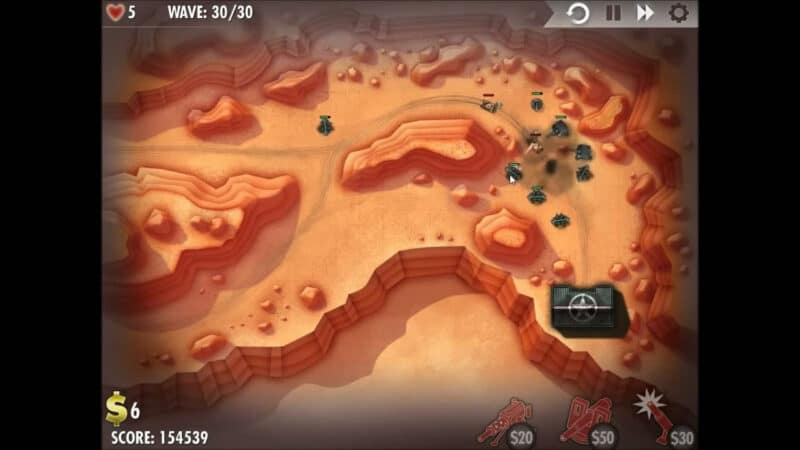 """iBomber Defense"" - Level 3 - North West Africa: Seiged (4)"