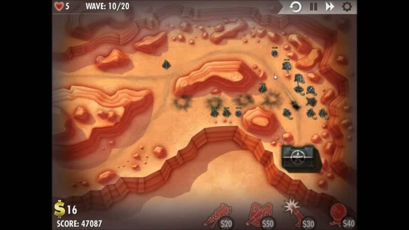 «iBomber Defense» - Уровень 4 - Северо-Западная Африка: Контратака (2)