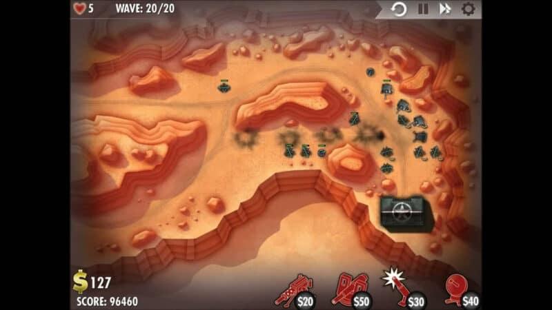 «iBomber Defense» - Уровень 4 - Северо-Западная Африка: Контратака (3)