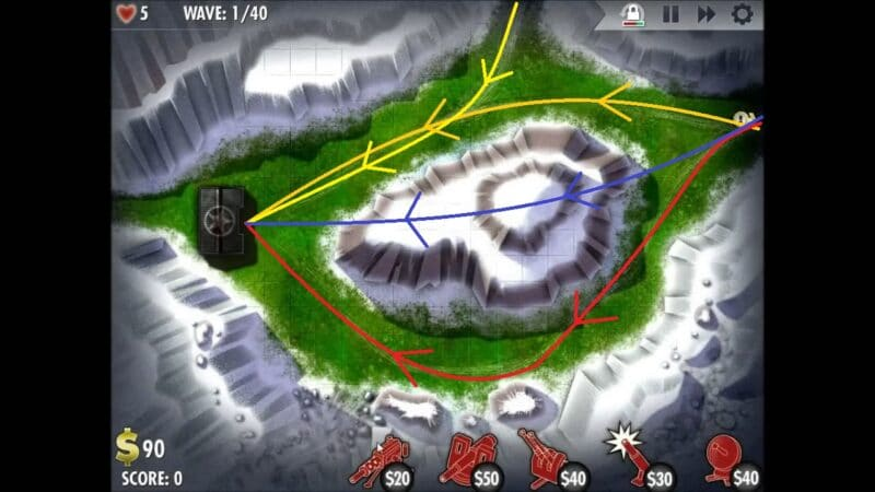 """iBomber Defense"" - Level 9 - South East Europe: Snowblind (1)"