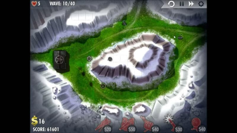 """iBomber Defense"" - Level 9 - South East Europe: Snowblind (2)"
