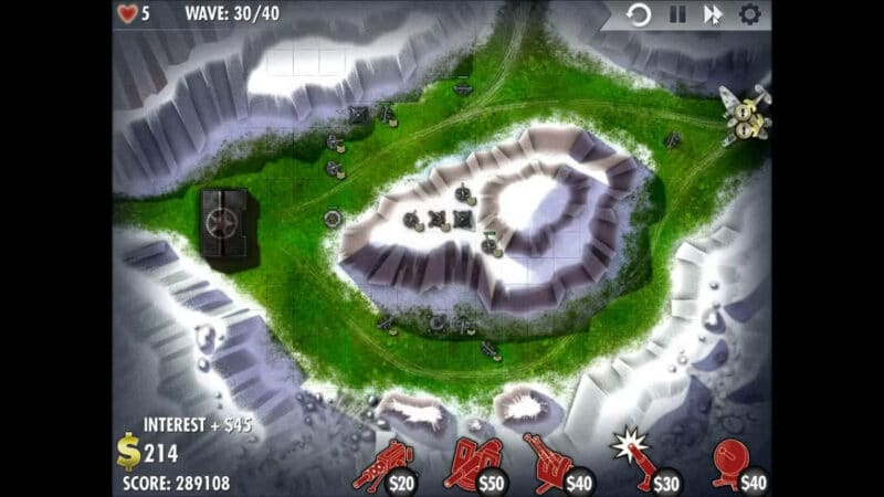 """iBomber Defense"" - Level 9 - South East Europe: Snowblind (4)"