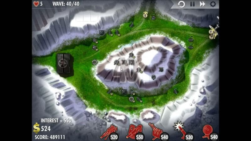 """iBomber Defense"" - Level 9 - South East Europe: Snowblind (5)"